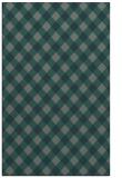 rug #671497 |  blue-green check rug