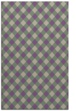rug #671549 |  purple check rug