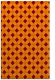 rug #671557 |  red-orange check rug