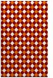 rug #671561 |  orange check rug
