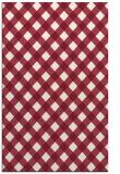 rug #671581 |  pink check rug