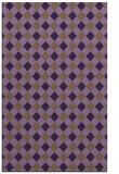 rug #671601 |  mid-brown check rug
