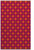 rug #671633 |  red-orange check rug