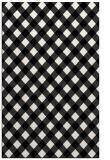 rug #671641 |  black check rug