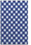 rug #671649 |  blue check rug