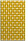 rug #671657 |  yellow check rug