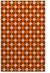 rug #671685 |  orange check rug
