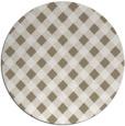 rug #671721 | round beige check rug