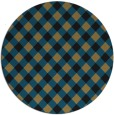 rug #671741 | round brown check rug