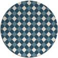 rug #671745 | round blue-green check rug