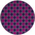 rug #671749 | round blue check rug