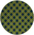 rug #671757 | round green check rug