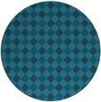 rug #671773 | round blue-green check rug