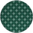 rug #671777 | round blue-green check rug