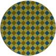 rug #671781 | round green check rug