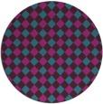 rug #671785 | round blue-green check rug