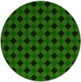 rug #671789 | round green check rug