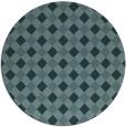 rug #671793 | round blue-green check rug