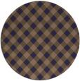 rug #671829 | round beige check rug