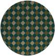rug #671841 | round brown check rug