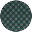 rug #671849 | round green check rug