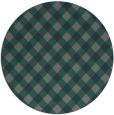 rug #671849 | round blue-green check rug
