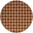 rug #671865 | round brown check rug