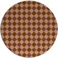 rug #671865 | round brown check rug