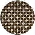 rug #671873 | round beige check rug