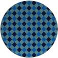 rug #671889 | round blue check rug
