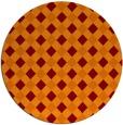 rug #671909 | round red-orange check rug