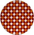 rug #671913 | round orange check rug