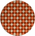 rug #671917 | round orange check rug