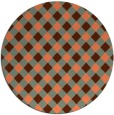 rug #671921 | round red-orange check rug