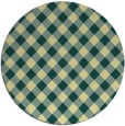rug #671925 | round yellow check rug