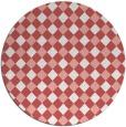rug #671941 | round white check rug