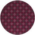 rug #671945 | round purple check rug