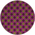 rug #671949 | round purple check rug