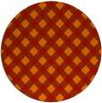 rug #671965 | round red check rug