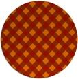 rug #671965 | round orange check rug