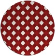 rug #671969 | round red check rug