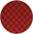 rug #671973 | round red check rug