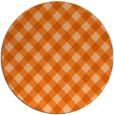rug #671981 | round red-orange check rug