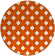 rug #671989 | round red-orange check rug