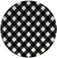 rug #671993   round white check rug