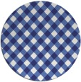 rug #672001 | round blue check rug