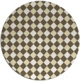 rug #672013 | round yellow check rug