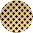 rug #672017 | round brown check rug