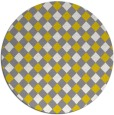 rug #672021 | round yellow check rug