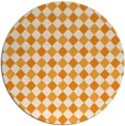 rug #672065 | round light-orange check rug